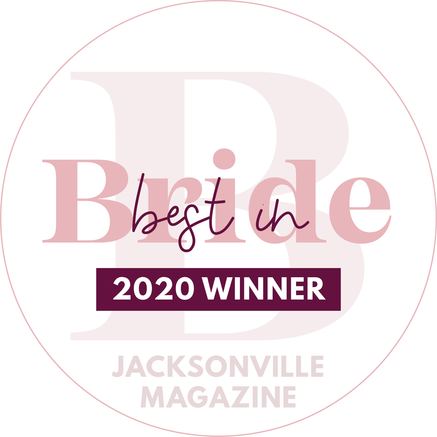Best in Bride 2020 Winner Jacksonville Magazine