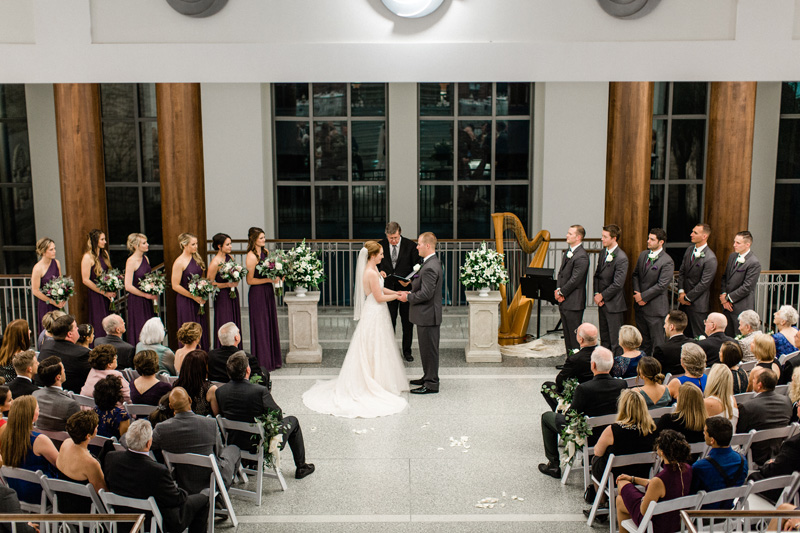 third floor atrium wedding ceremony at the Main Library