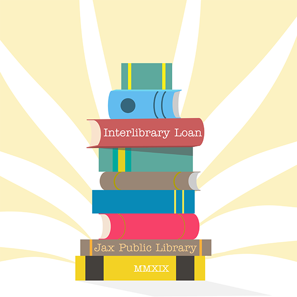 Stack of books representing Interlibrary Loan at the Library