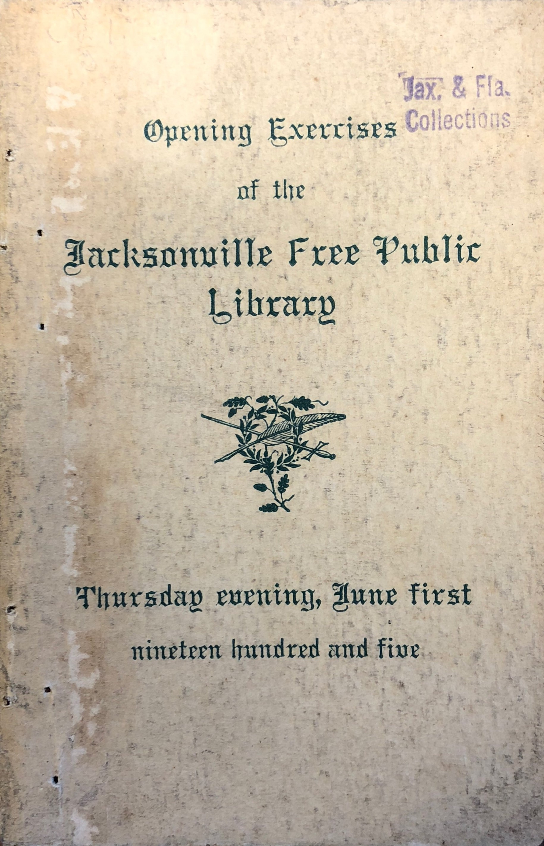 Opening of the Jacksonville Free Public Library
