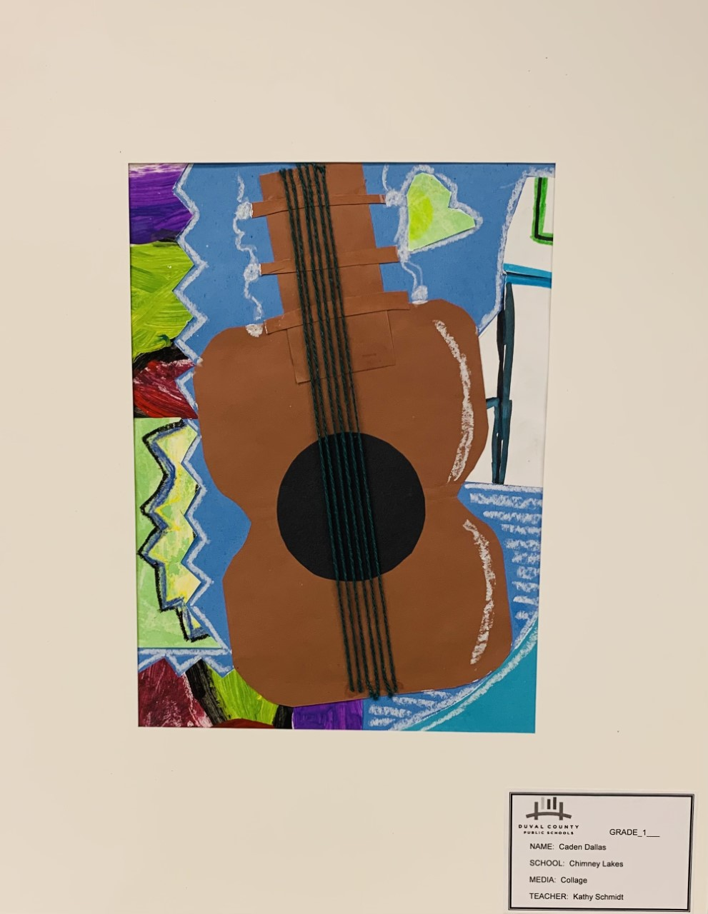 Guitar by Caden Dallas (grade 1) of Chimney Lakes Elementary