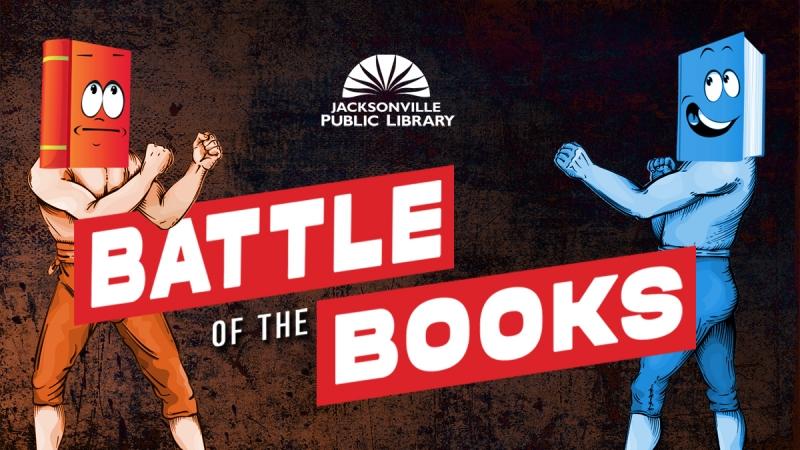 robots battling for books
