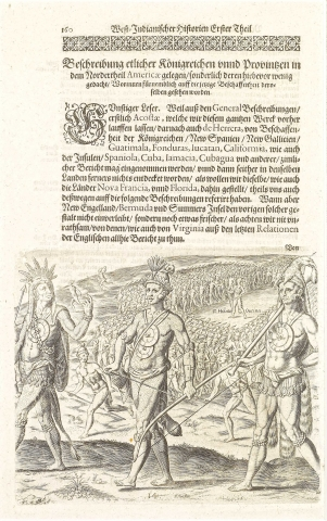 Plate XIV. The Military Discipline Observed by Outina when Leaving for War