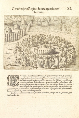Plate XL. Funeral Ceremonies in Honour of the Kings and Priests