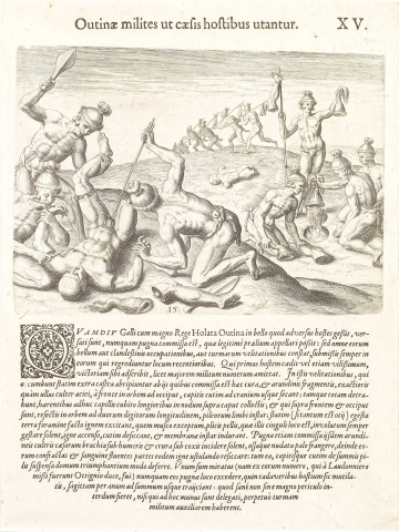 Plate XV. How Outina's Soldiers Treated their Slain Enemies