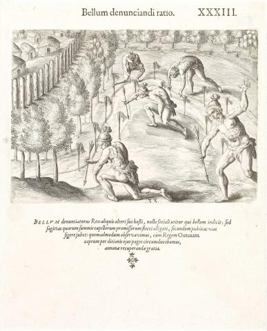 Plate XXXIII. How the Indians Declare War