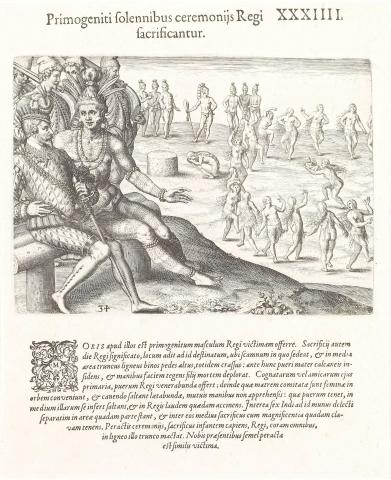 Plate XXXIV. First-Born Children Sacrificed with Solemn Ceremonies