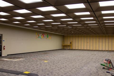 Webb Library Children's area reno begins
