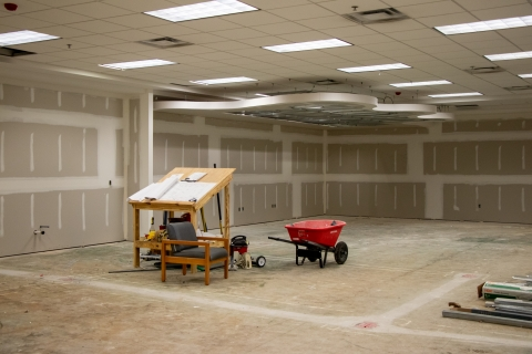 Highlands Regional Library Children's Area Drywall Application