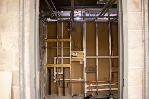 Webb Wesconnett Regional Library Children's Area Restroom Pipes