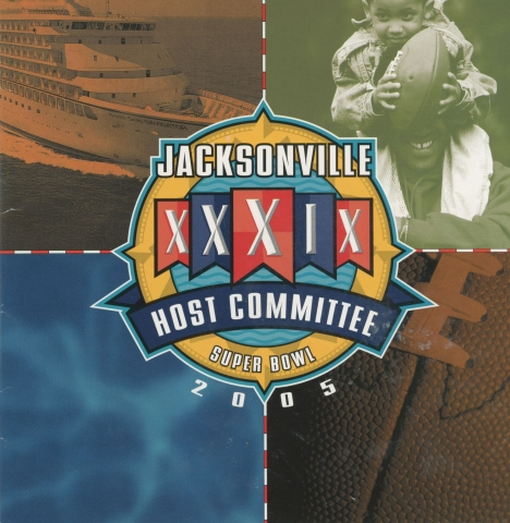 Cover of the Jacksonville Super Bowl Host Committee marketing pamphlet