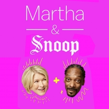The book What's Cooking with Martha and Snoop