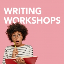 Writing Workshops, woman holding book