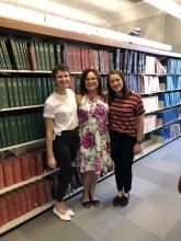 Jenna and Hurley with Cheryl Goodman