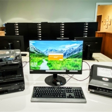 Digitization station in Special Collections at Main library Jacksonville Public Library