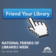 Friends of libraries week, ALA, Jacksonville Public Library, Friends of the Jacksonville Public library, October 20