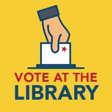 voting at the library graphic