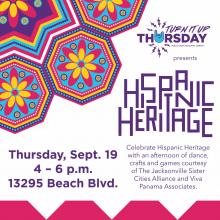 Hispanic Heritage, Turn it up Thursday Sept. 19, Pablo Creek Library