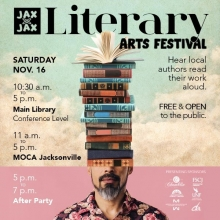 JaxbyJax, Jacksonville Literary festival, Jacksonville public library, local authors, JaxbyJax Jacksonville