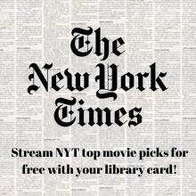 NYT Best Netflix Movies, New York Times Best Netflix Movies, Jacksonville Public Library