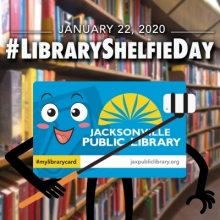 Library Shelfie Day, National Library Shelfie Day, Jacksonville Public Library