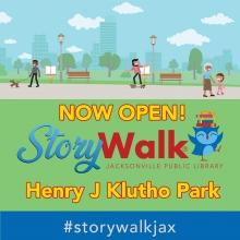 Storywalk in Klutho Park Jacksonville Florida