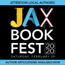 Calling All Authors to sign up for the 2020 Jax Bookfest at the Jacksonville Public Library