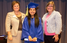 GED Graduation Image of Dawt Si with JPL staff