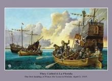Ponce de Leon landing in Florida