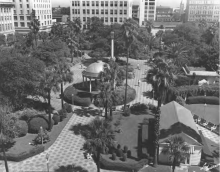 Hemming Park aerial view