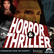 Horror & Thriller, Now streaming on Kanopy, Jacksonville Public Library, Kanopy, Free horror films, Free movies