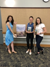 Hurley and Jenna with Author Kristina McMorris holding her new book