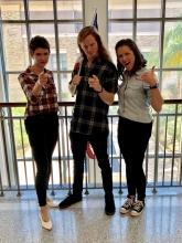 Hurley and Jenna with Lane Pittman