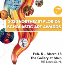 Northeast Florida Scholastic Art Awards, Gold Key Exhibition, Gallery at Main, Jacksonville Public Library, Student Art Gallery