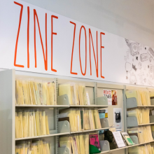 Zine collection at the Main library